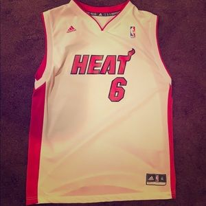 adidas Tops - LeBron James Miami Heat Jersey (Screen Printed)